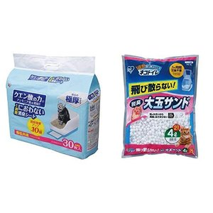セット買いアイリスオーヤマ システムトイレ用 1週間におわない脱臭シート クエン酸入 30枚入 & ...