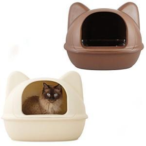 iCat アイキャット オリジナル ネコ型トイレット スコップ付 マットアイボリー 猫 トイレ