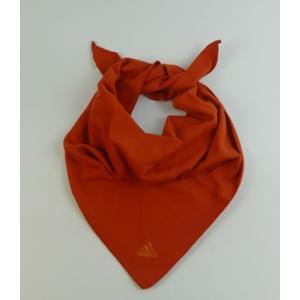 メール便送料無料 代引不可 三角スカーフ オレンジ マフラー adidas 寒さ対策 yorozuh