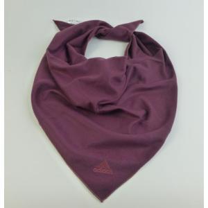 メール便送料無料 代引不可 三角スカーフ ワインレッド マフラー adidas 寒さ対策 yorozuh