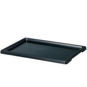 盆栽皿DX8号   黒受皿・プレート yorozuya-souko