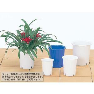 長鉢マイルドポット6号 ホワイト 5個セット/ポット・鉢 yorozuya-souko