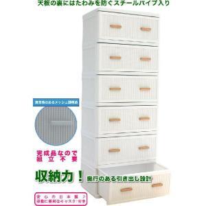 収納家具 メッシュチェスト プラスチック ワイド6段 ホワイト|yorozuya-souko|02