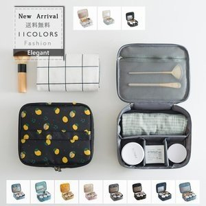 化粧ポーチ メイクポーチ 大容量 機能的 スクエア型 使いやすい バッグインバッグ 大きめ 旅行 持...