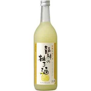 世界一統 和歌のめぐみ 龍神の柚子酒720ml(クリアケース入り)  1本|yorozuyasan