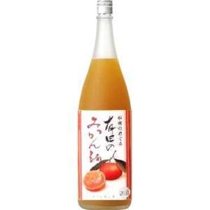 世界一統 『和歌のめぐみ』 有田みかん酒 1800ml〈箱なし〉  1本|yorozuyasan
