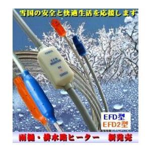 雨樋・排水路凍結防止ヒーター EFD−8 AC100V 8m(雨樋ヒーター) 山清電気 |yorozuyaseybey