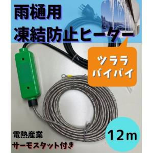 DenSan 雨樋・排水路凍結防止ヒーター T−12(100V 240W・12m) yorozuyaseybey