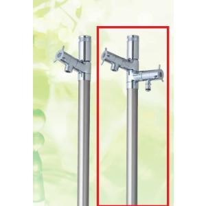 デザイン水栓柱 ブランシュ カラン2口タイプ 1.0m EINF-TWIN 13X1000 光合金製作所|yorozuyaseybey