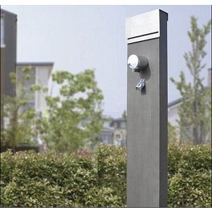 蛇口一体型デザイン水栓柱 S-10BS-1313120K アクランド AQULAND|yorozuyaseybey