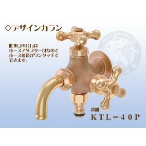 竹村製作所 デザインカラン2口タイプ KTL−40P 鋳肌|yorozuyaseybey