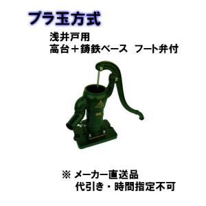 東邦工業 手押しポンプ 浅井戸用 高台+鋳鉄ベースタイプ 35 プラ玉 T35PSTKCF 管接続40A|yorozuyaseybey