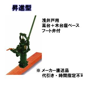 東邦工業 手押しポンプ昇進型 浅井戸用 高台+木台座タイプ 35 SY35STKDF 管接続40A|yorozuyaseybey