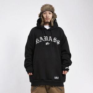 BADASS バダス Arch Snake Hood Black ビッグサイズ XL 2XL 3XL 4XL BADS スノーボード ウェア パーカー メンズ 大きいサイズ [15BA2301]