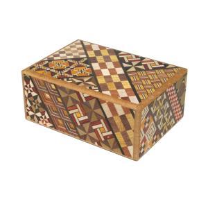 寄木細工 秘密箱4回仕掛け