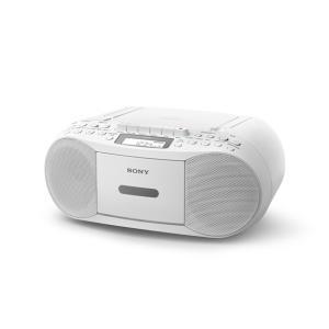 ラジオ、CD、カセットテープを楽しむ  FM(ステレオ)/AMの2バンドラジオ  ワイドFM(FM補...