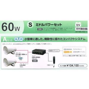 UNI-PEX 車載アンプ 60W S ミドルパワー Aセット 12v (町村議会議員)|yoshiba-direct