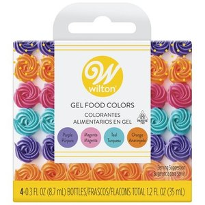 Wilton ウィルトン 色素 ジェル状 ビビッドジェルカラー 4色セット アイシングカラー