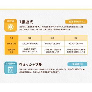 かわいい星柄 遮光カーテン 幅101〜150(2枚での販売)cm×丈201〜220cm 1級遮光カーテン オーダーカーテン(納期10日程度)|yoshietsu|11