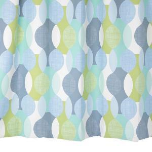 遮光カーテン 北欧柄 md0144 ブルー 幅150cm×丈178cm2枚 幾何学柄 丈直しOK(有料)|yoshietsu
