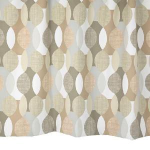 遮光カーテン 北欧柄 md0144 ブラウン 幅100cm×丈110cm2枚 幾何学柄 丈直しOK(有料)|yoshietsu