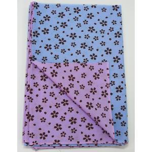リバーシブル 手拭い 桜ブルー 1反 てぬぐい 手ぬぐい|yoshietsu