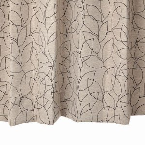 リーフ柄カーテン ブラウン 幅100cm×丈135cm2枚 un0054 遮光カーテン  おしゃれなカーテン 丈直しOK(有料)|yoshietsu