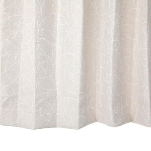 リーフ柄カーテン アイボリー 幅100cm×丈230cm2枚un0054 遮光カーテン おしゃれなカーテン|yoshietsu