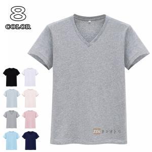 Tシャツ 半袖 メンズ インナー Vネック 無地Tシャツ T...