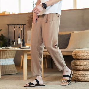 サルエルパンツ 涼しいズボン テーパードパンツ メンズ 九分丈 夏ズボン ボトムス アンクル丈 2019 夏 サマー チノパン|yoshikootory