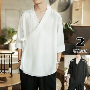 チャイナ服 メンズ カーディガン 刺繍 羽織 夏服 はおり 涼しい 七分袖 サマー 部屋着 男性 中華風|yoshikootory