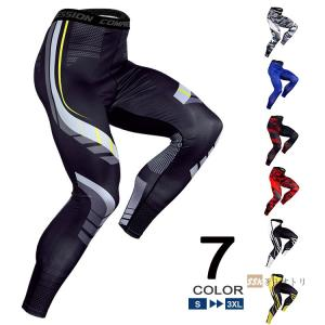 ロングタイツ メンズ スポーツパンツ アンダーウェア フィットネスウェア コンプレッション タイツ ...