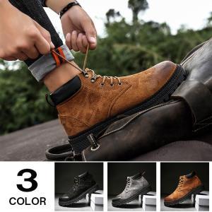 ワークブーツ マウンテンブーツ ブーツ メンズ ショートブーツ ミリタリーブーツ 冬靴 靴 防寒 メンズファション|yoshikootory