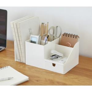 卓上収納ボックス 卓上収納 文具収納 オフェス用 ペン立て 小物収納 多機能 小物入れ 卓上整理ボッ...