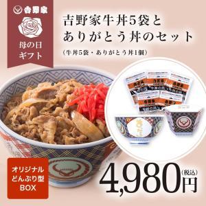 母の日ギフト 冷凍牛丼の具5袋と吉野家オリジナルどんぶりのギフトセット【数量限定】