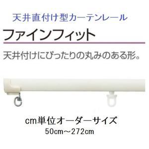 天井直付型カーテンレール 特注サイズ10cm分 タチカワファインフィット フロスティホワイト|yoshioka