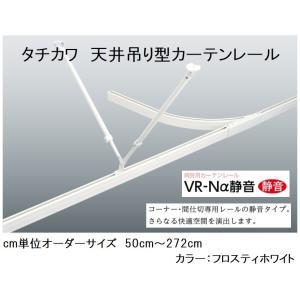 天井吊り型カーテンレール特注0.1m分 タチカワVR-Nα静音タイプ フロスティホワイト...