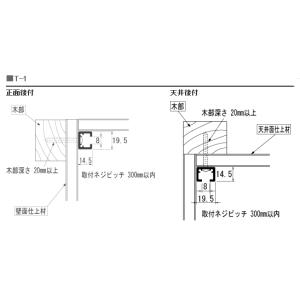 TOSOピクチャーレール T-1ナチュラル(シルバー) 特注サイズ10cm分|yoshioka|03