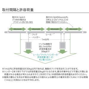 TOSOピクチャーレール T-1ナチュラル(シルバー) 特注サイズ10cm分|yoshioka|04