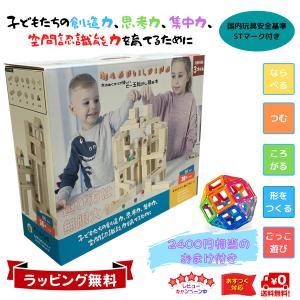 Mag-Building 積み木 ビ-玉 転がし ピタゴラスイッチ ブロック おもちゃ おまけ付き60ピース