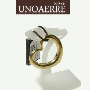 イタリア ブランド  UNOAERRE ウノアエレ K18 ゴールド オープンハート モチーフチャームトップ 恋のシンボル|yosii-bungu