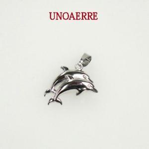 UNOAERRE ウノアエレ K18 ホワイトゴールド イルカ モチーフ ペンダントトップ 000UJP7190000 |yosii-bungu