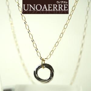 UNOAERRE ウノアエレ K18 イエローゴールドネックレス K18WGペンダント付き 002UJP229000|yosii-bungu