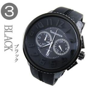 テンデンス  (TENDENCE)  ラウンド ガリバー クロノ  TG460010 ブラック  腕時計 葛西グッズプレゼント!!|yosii-bungu