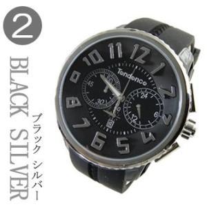 テンデンス(TENDENCE)  ラウンド ガリバー クロノ(HYDROGEN GULLIVER CHRONO ) TG046013 ブラック×シルバー 腕時計('正規登録店)|yosii-bungu