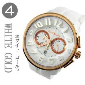 テンデンス(TENDENCE)  ガリバー ラウンド クロノ   TG046014 ホワイト×ピンクゴールドカラー  腕時計|yosii-bungu