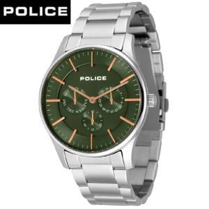 POLICE  (ポリス)   COURTESYコーテシー  オリーブ/ローズゴールド 14701JS-53M  /正規品|yosii-bungu