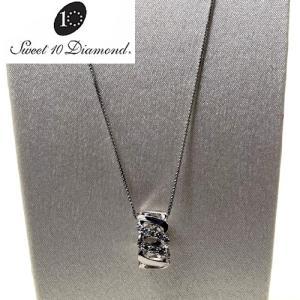 スイート10ダイヤモンド Sweet 10 Diamond K18WG ダイヤモンド ネックレス   0.09ct 1M018W【正規保証書付き】<|yosii-bungu