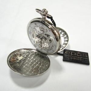 epos エポス ポケットウォッチ 懐中時計 正規品 スケルトンモデル 蓋付き 2078P |yosii-bungu