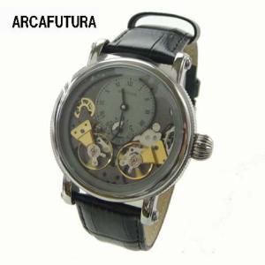 アルカフトゥーラ 腕時計  自動巻き Arca Futura  324SKBK ダブルテンプ|yosii-bungu